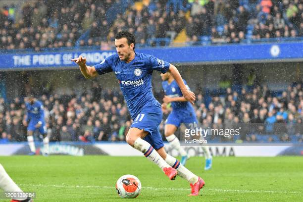 Pedro during the Premier League match between Chelsea and Everton at Stamford Bridge, London on Sunday 8th March 2020.
