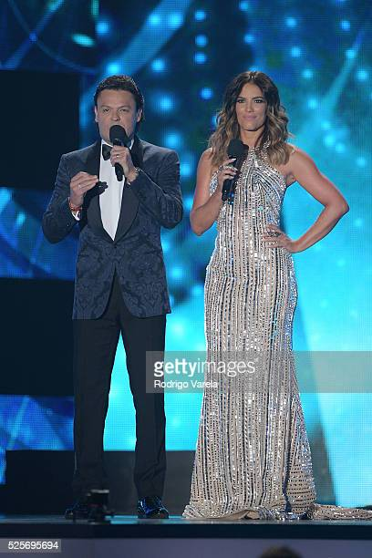 Pedro Fernandez and Gaby Espino onstage at the Billboard Latin Music Awards at Bank United Center on April 28 2016 in Miami Florida
