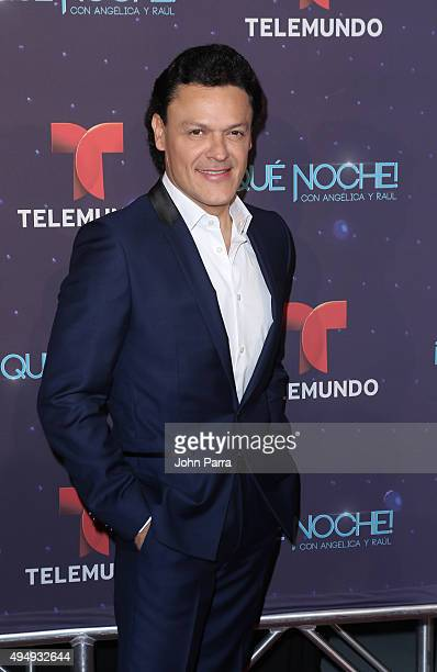 Pedro Fernandez attends Telemundo Que Noche With Angelica And Raul on October 29 2015 in Miami Florida