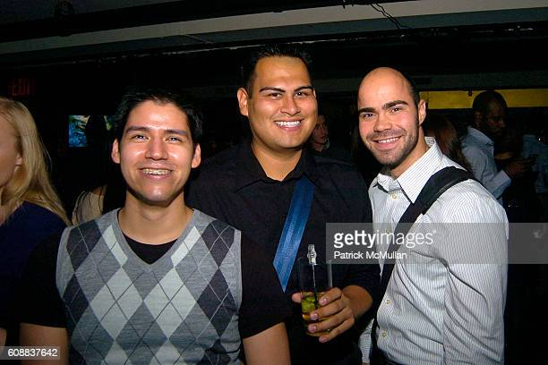 Pedro Garcia Juan Davalos and Kevin Johnson attend Drambuie Den Event with Special Guest Heather Vandeven at Level V on October 22 2007 in New York