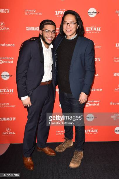 Pedro Hernandez and filmmaker Stephen Maing attend the 'Crime And Punishment' Premiere during the 2018 Sundance Film Festival at The Ray on January...