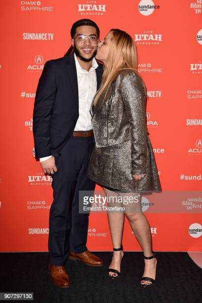 Pedro Hernandez and Jessica Perez attends the 'Crime And Punishment' Premiere during the 2018 Sundance Film Festival at The Ray on January 19 2018 in...