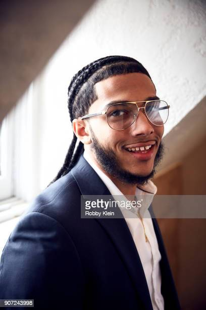 Pedro Hernandez from the film 'Crime and Punishment' poses for a portrait in the YouTube x Getty Images Portrait Studio at 2018 Sundance Film...