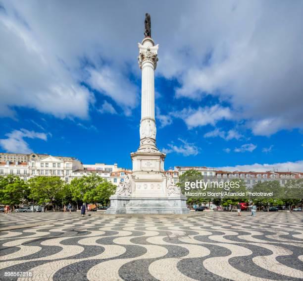 pedro iv square or rossio square - ロッシオ広場 ストックフォトと画像