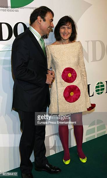 Pedro J Ramirez and Angeles Gonzalez Sinde attend 'El Mundo' Newspaper's 20th Anniversary party on October 22 2009 in Madrid Spain