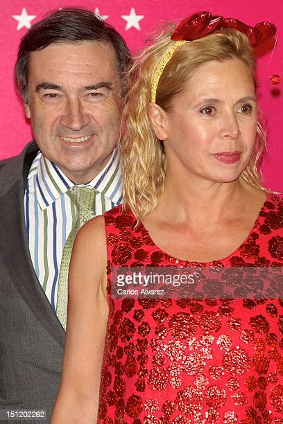 Pedro J Ramirez and wife designer Agatha Ruiz de la Prada attend the 'Yo Dona' magazine cocktail at Villamagna Hotel on September 3 2012 in Madrid...
