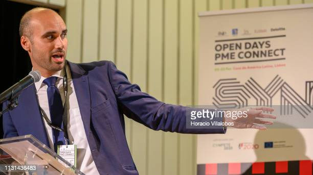 Pedro Janeiro Manager in the Consulting Strategy and Operations Division at Deloitte Portugal delivers a keynote speech at 'Open Days PME Connect'...