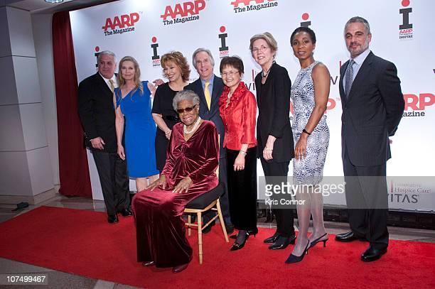 Pedro Jose Greer Jr' Lisa Niemi Swayze Joy Behar Henry Winkler Sandy Chen Stokes Elizabeth Warren Helene Gayle Tony Danza and Maya Angelou pose for...