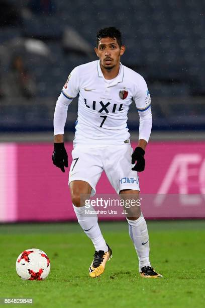 Pedro Junior of Kashima Antlers during the JLeague J1 match between Yokohama FMarinos and Kashima Antlers at Nissan Stadium on October 21 2017 in...