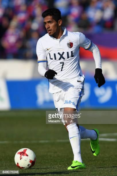 Pedro Junior of Kashima Antlers in action during the JLeague J1 match between Ventforet Kofu and Kashima Antlers at Yamanashi Chuo Bank Stadium...