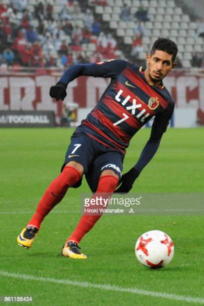 Pedro Junior of Kashima Antlers in action during the JLeague J1 match between Kashima Antlers and Sanfrecce Hiroshima at Kashima Soccer Stadium on...