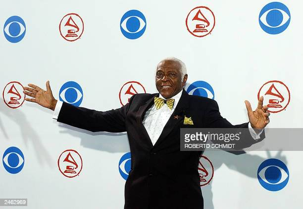 Pedro Knight husband of late salsa queen Celia Cruz poses for photographers at his arrival to the 4th Annual Latin Grammy awards in Miami Florida 03...