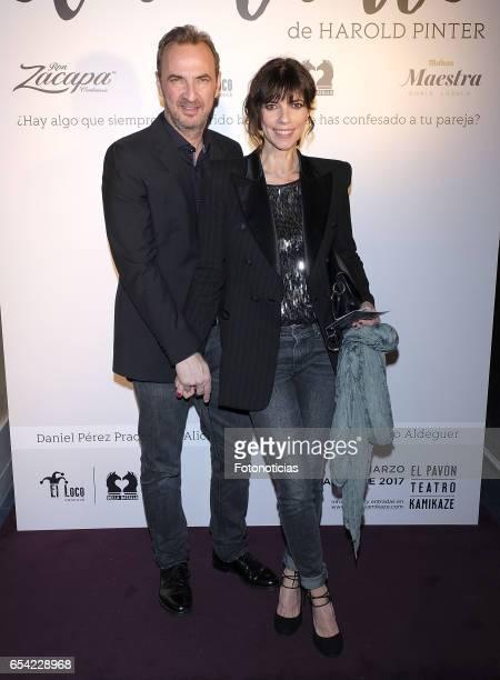 Pedro Larranaga and Maribel Verdu attend 'El Amante' press night at Pavon Kamikaze Theatre on March 16 2017 in Madrid Spain
