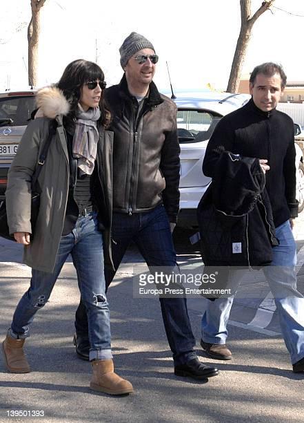 Pedro Larranaga Maribel Verdu and doctor Gonzalo Sanz visit Carlos Larranaga on February 5 2012 in Benalmadena Spain Carlos Larranaga has been...