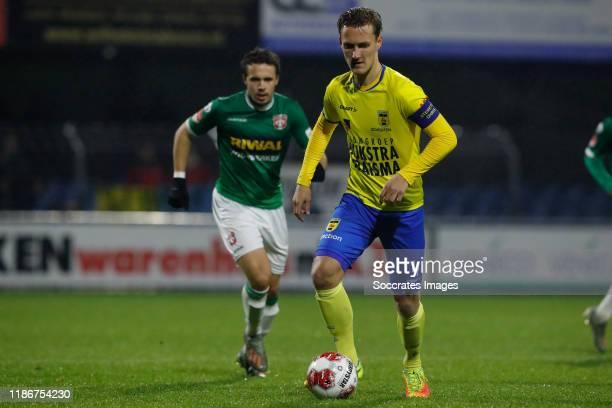 Pedro Marques of FC Dordrecht, Erik Schouten of SC Cambuur during the Dutch Keuken Kampioen Divisie match between FC Dordrecht v SC Cambuur at the...