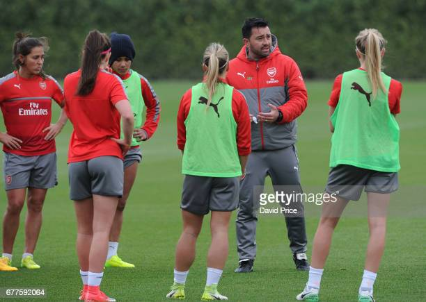 Pedro Martinez Losa the Manager of Arsenal Ladies during an Arsenal Ladies Training Session at London Colney on May 3 2017 in St Albans England