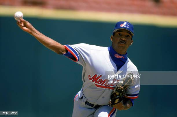 Pedro Martinez of the Montreal Expos pitches during a 1996 season game. Pedro Martinez played for the Montreal Expos from 1994-1997.