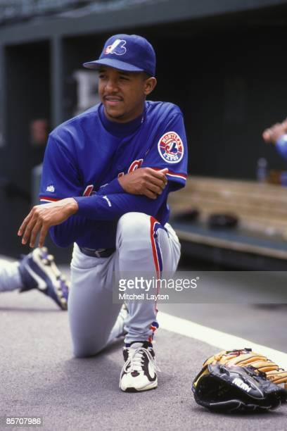 Pedro Martinez#24 of the Montreal Expos before a baseball game against the Baltimore on June 30 1997 at Camden Yards in Baltimore Maryland