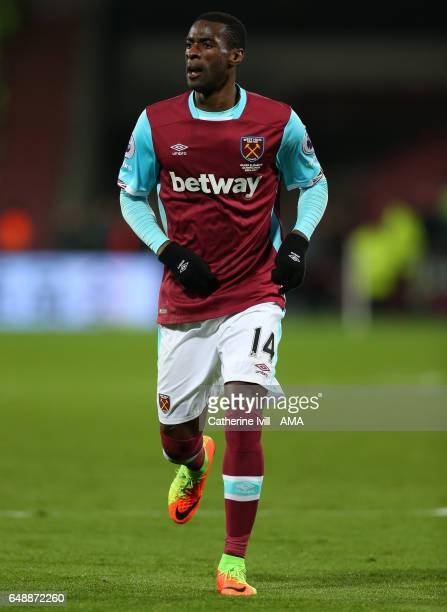 Pedro Mba Obiang of West Ham during the Premier League match between West Ham United and Chelsea at London Stadium on March 6 2017 in Stratford...