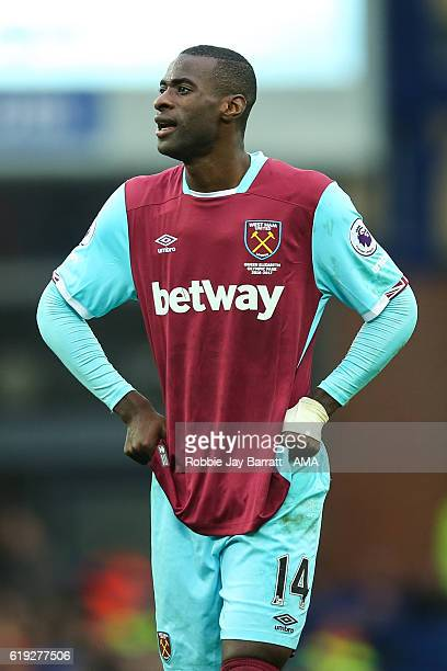 Pedro Mba Obiang of West Ham United dejected during the Premier League match between Everton and West Ham United at Goodison Park on October 30 2016...