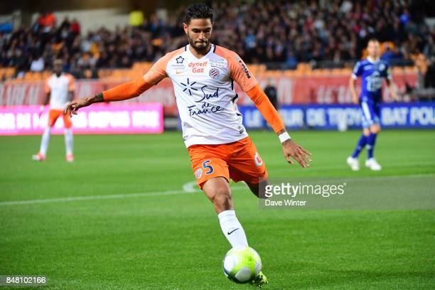 Pedro Mendes of Montpellier during the Ligue 1 match between ESTAC Troyes and Montpellier Herault SC at Stade de l'Aube on September 16 2017 in...
