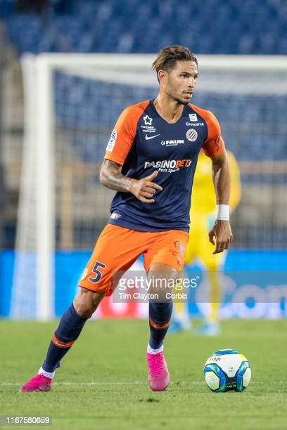 Pedro Mendes of Montpellier in action during the Montpellier Vs Stade Rennes French Ligue 1 regular season match at Stade de la Mosson on August 10th...