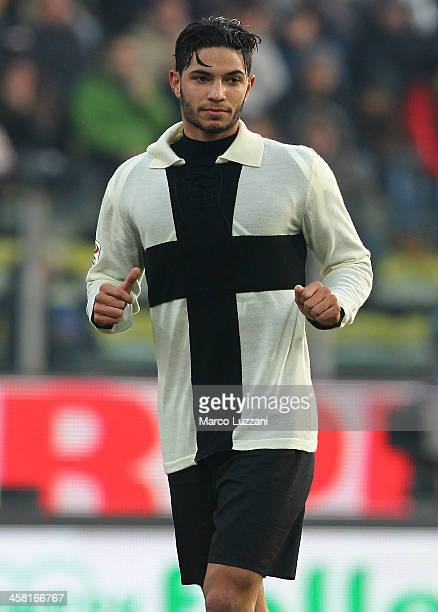 Pedro Mendes of Parma FC looks on during the Serie A match between Parma FC and Cagliari Calcio at Stadio Ennio Tardini on December 15 2013 in Parma...