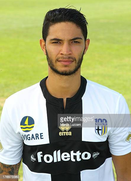 Pedro Mendes of Parma FC poses for an official portrait at the club's training ground on August 20 2013 in Collecchio Italy
