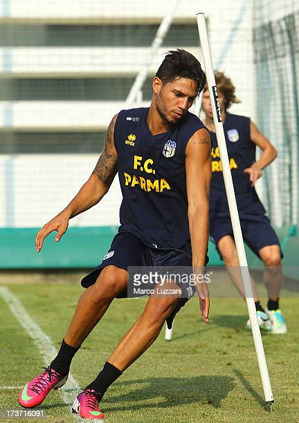 Pedro Mendes of Parma FC trains during FC Parma Training Session at the club's training ground on July 17 2013 in Collecchio Italy