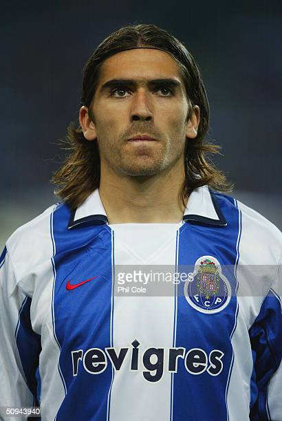 Pedro Mendes of Porto during the UEFA Champions League second round first leg match between Porto and Manchester United at the Estadio Dragao on...