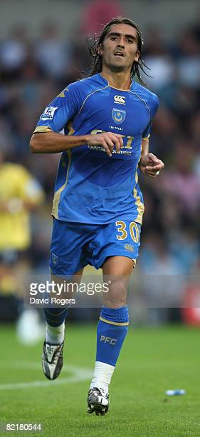 Pedro Mendes of Portsmouth running during the pre season friendly match between Oxford United and Portsmouth at the Kassam Stadium on August 4 2008...