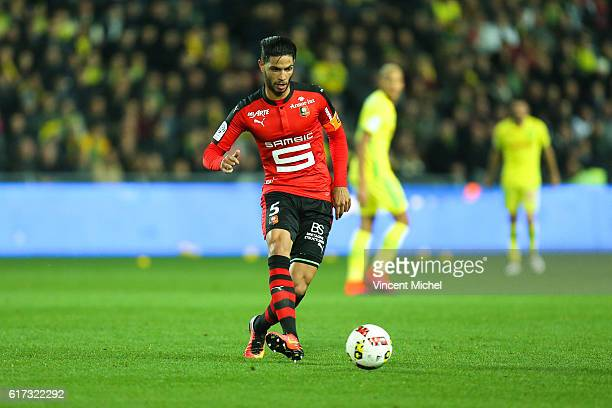 Pedro Mendes of Rennes during the Ligue 1 match between FC Nantes and Stade Rennais at Stade de la Beaujoire on October 22 2016 in Nantes France