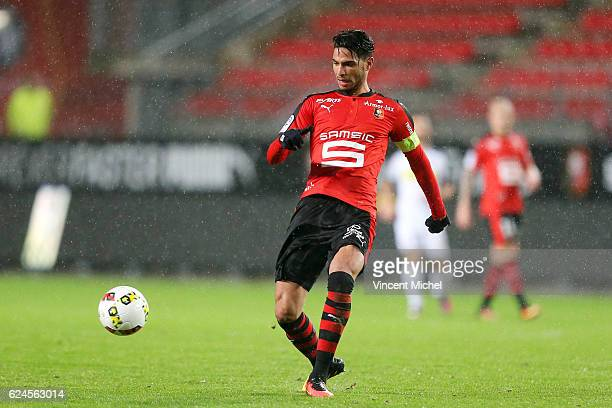 Pedro Mendes of Rennes during the Ligue 1 match between Stade Rennais and Sco Angers at Stade de la Route de Lorient on November 19 2016 in Rennes...