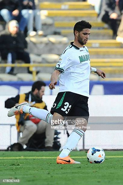 Pedro Mendes of US Sassuolo Calcio in action during the Serie A match between Bologna FC and US Sassuolo Calcio at Stadio Renato Dall'Ara on March 9...