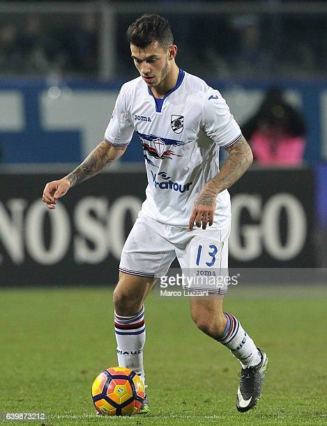 Pedro Miguel Pereira of UC Sampdoria in action during the Serie A match between Atalanta BC and UC Sampdoria at Stadio Atleti Azzurri d'Italia on...