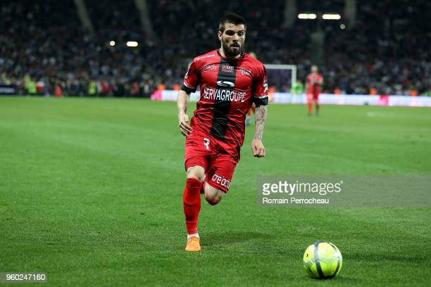 Pedro Miguel rebocho of Guingamp in action during the Ligue 1 match between Toulouse and EA Guingamp at Stadium Municipal on May 19 2018 in Toulouse