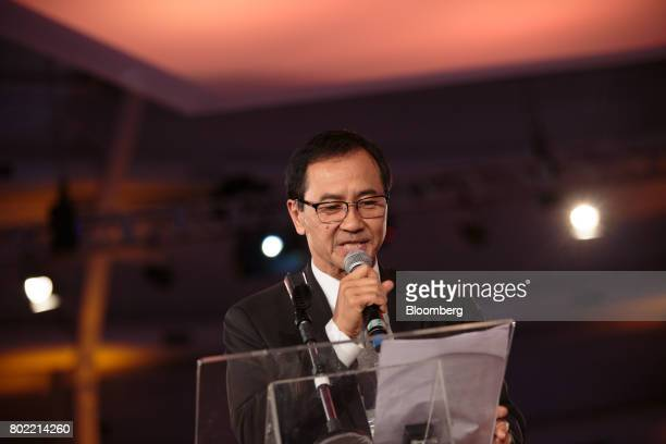 Pedro Mizutani chairman of UNICA speaks during the UNICA Ethanol Summit 2017 in Sao Paulo Brazil on Tuesday June 27 2017 The Ethanol Summit brings...