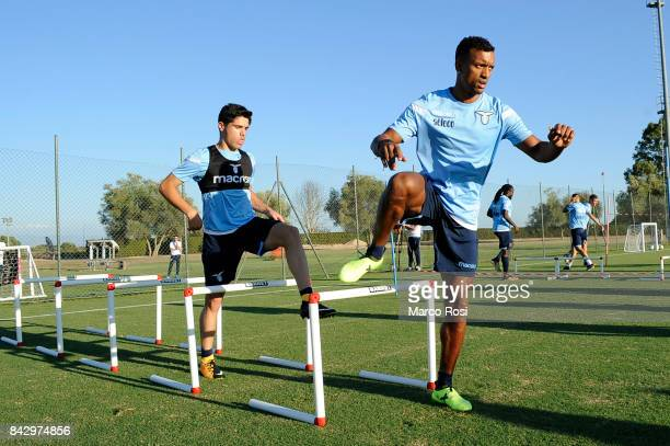 Pedro Neto and Nani of SS Lazio during the SS Lazio training session on September 5 2017 in Rome Italy