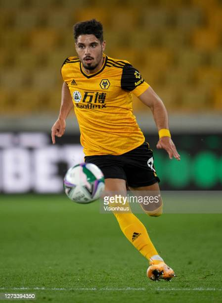 Pedro Neto of Wolverhampton Wanderers during the Carabao Cup second round match between Wolverhampton Wanderers and Stoke City at Molineux on...