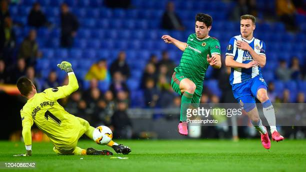 Pedro Neto of Wolverhampton Wanderers during the UEFA Europa League match round of 16 second leg between RCD Espanyol and Wolverhampton Wanderers at...