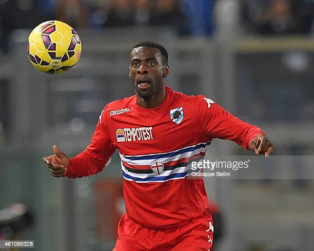 Pedro Obiang of UC Sampdoria in action during the Serie A match between SS Lazio and UC Sampdoria at Stadio Olimpico on January 5 2015 in Rome Italy
