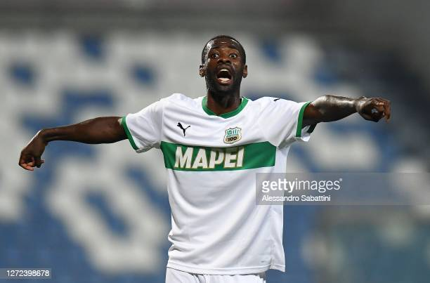 Pedro Obiang of US Sassuolo gestures during the Pre-Season Friendly match between US Sassuolo v Pisa SC at Mapei Stadium - Citta' del Tricolore on...