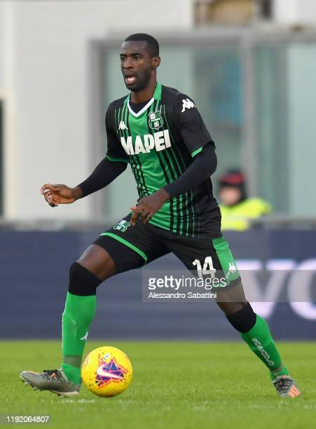 Pedro Obiang of US Sassuolo in action during the Coppa Italia match between US Sassuolo and AC Perugia at Mapei Stadium - Città del Tricolore on...