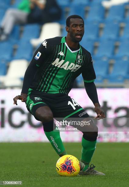 Pedro Obiang of US Sassuolo in action during the Serie A match between US Sassuolo and Parma Calcio at Mapei Stadium - Citta del Tricolore on...