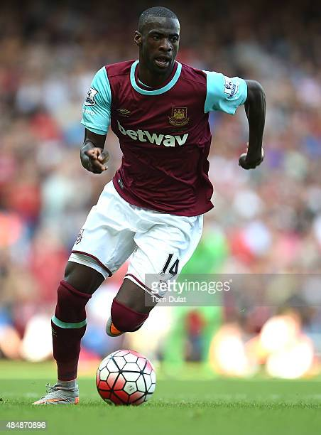 Pedro Obiang of West Ham in action during the Barclays Premier League match between West Ham United and Bournemouth at the Boleyn Ground on August 22...