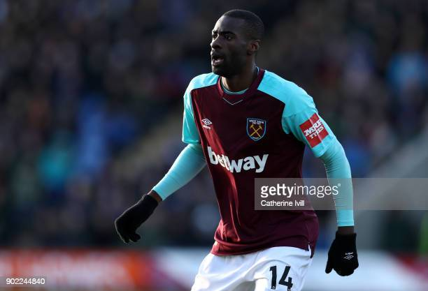 Pedro Obiang of West Ham United during the Emirates FA Cup Third Round match between Shrewsbury Town and West Ham United at New Meadow on January 7,...