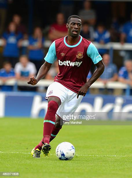 Pedro Obiang of West Ham United during the Pre Season Friendly match between Peterborough United and West Ham United at London Road Stadium on July...