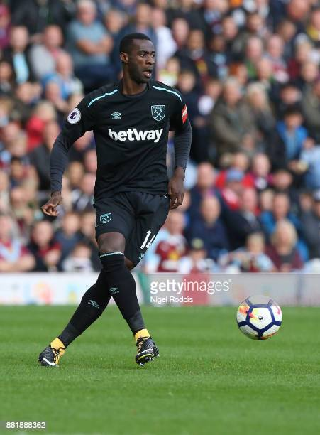 Pedro Obiang of West Ham United during the Premier League match between Burnley and West Ham United at Turf Moor on October 14 2017 in Burnley England