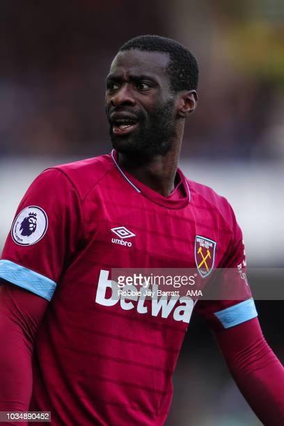 Pedro Obiang of West Ham United during the Premier League match between Everton FC and West Ham United at Goodison Park on September 16 2018 in...