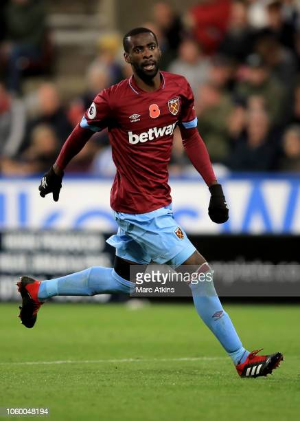 Pedro Obiang of West Ham United during the Premier League match between Huddersfield Town and West Ham United at John Smith's Stadium on November 10,...